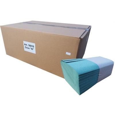 5.000 Stück Papierhandtücher grün 1-lagig 25 x 23 cm