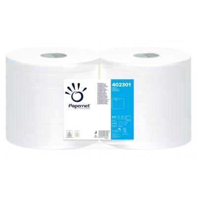 Industrieputztuchrollen Zellstoff, weiß 2-lagig, 1000 Blatt / Rolle Papernet 402301  Doppelpack