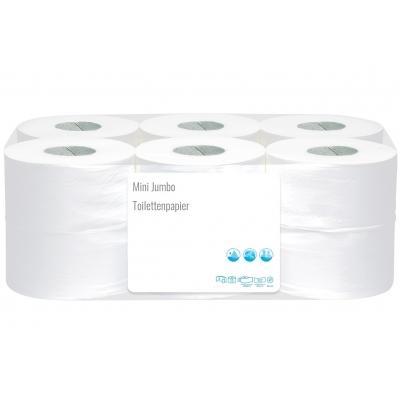 Mini Jumbo Toilettenpapier Zellstoff 2-lagig, 170m / Rolle 10030  12 Rollen / VE