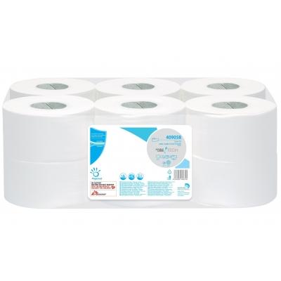 12 Rollen Mini Jumbo Premium Toilettenpapier 1-lagig 300m