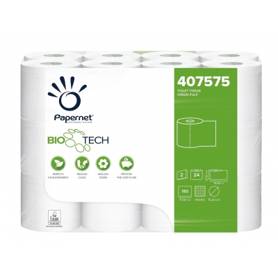 24 Rollen Bio-Tech Camping Toilettenpapier Zellstoff 2-lagig