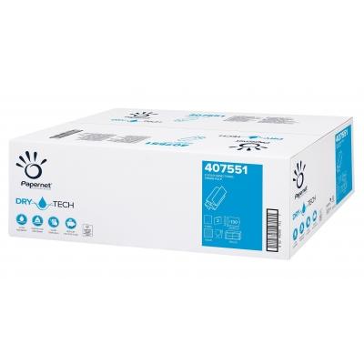 Papierhandtücher DRY TECH Z-Falz (Multifold), 2-lagig, TAD Maß: 20,3 x 24 cm (gefalten 8 cm)  2.600 Stück / Karton