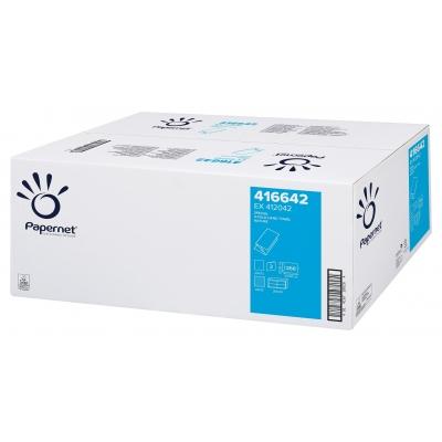 1 Palette 32 VE Papierhandtücher V-Falz Deinktes Papier 65 % 2-lagig