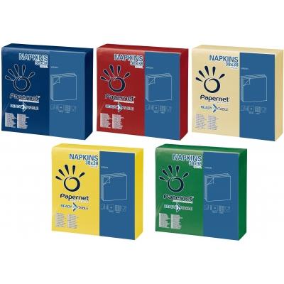 Farbige Papierservietten 38 x 38 cm 2-lagig, 1/4 Falz, Zellstoff 36 Pack x 44 Stück  1584 Stück / Karton