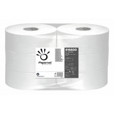 6 Rollen Maxi Jumbo Toilettenpapier 1-lagig Recycling 500m