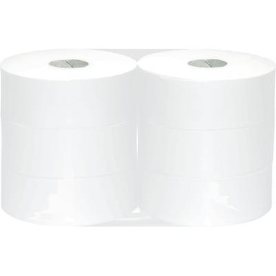6 Rollen Maxi Jumbo Toilettenpapier 2-lagig Zellstoff 360m