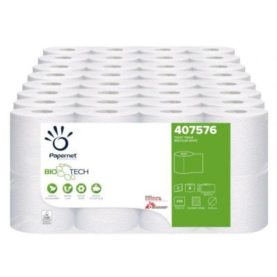 Camping Toilettenpapier BIO TECH 2-lagig / 250 Blatt / selbstauflösend Papernet 407576  64 Rollen / VE