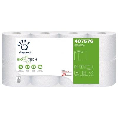 Camping Toilettenpapier BIO TECH 2-lagig / 250 Blatt / selbstauflösend Papernet 407576  8 Rollen / Einzelpack