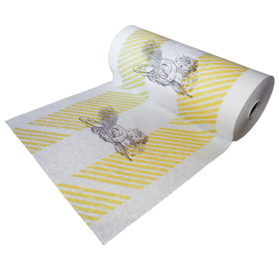 """Bäckerseide / Einschlagpapier 50 cm Kraftpapier 35g/qm, 8 / 10 kg Druckmotiv """"Mühle""""  Rolle"""
