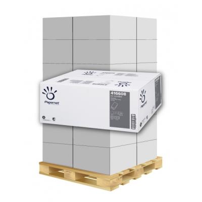 Papierhandtücher Papernet 416608 V-Falz 1-lagig, Recycling Maß: 24,5 x 23 cm (gef. 11,5 cm)  1 Palette / 32 Kartons