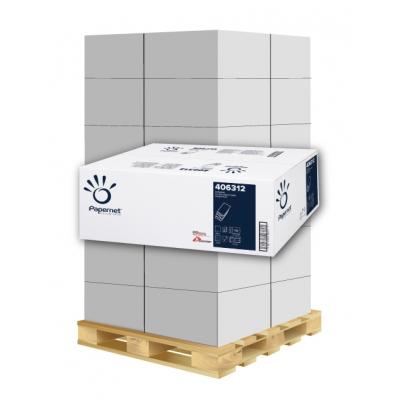 Papierhandtücher Papernet 406312 W-Falz, 3-lagig, Zellstoff Maß: 22 x 32 cm (gef. 8 cm)  1 Palette / 36 Kartons