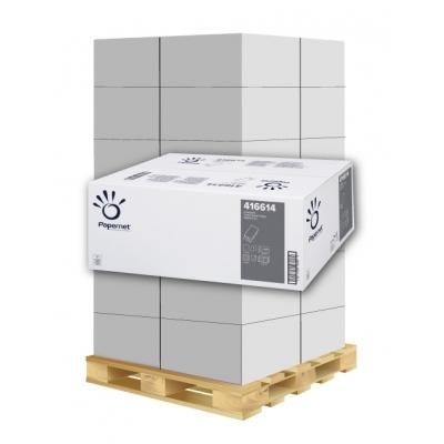 Papierhandtücher Papernet 416614 W-Falz, 1-lagig, Recycling Maß: 20,3 x 32 cm (gef. 8 cm)  1 Palette / 36 Kartons