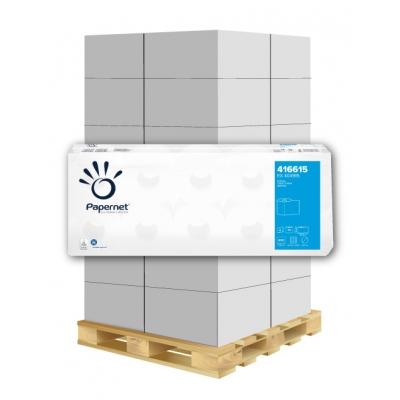Toilettenpapier Deinktes Papier 2-lagig, 400 Blatt, weiß 65% Papernet 416615 40 Rollen / VE  1 Palette / 44 VE