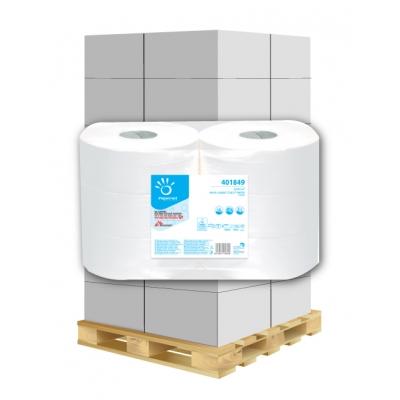 Großrollen Jumbo Toilettenpapier 2-lagig, 1180 Blatt, Zellstoff Papernet 401849 6 Rollen / VE  1 Palette / 48 VE