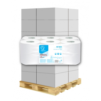Mini Jumbo Toilettenpapier 2-lagig, 557 Blatt, Zellstoff Papernet 401850 12 Rollen / VE  1 Palette / 48 VE