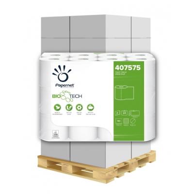 Camping Toilettenpapier BIO TECH 2-lagig, 180 Blatt, Zellstoff Papernet 407575 24 Rollen / VE  1 Palette / 96 VE