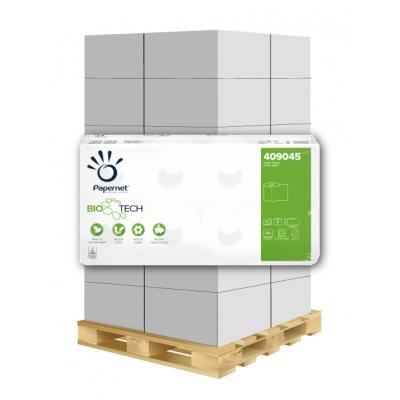 Camping Toilettenpapier BIO TECH 3-lagig, 250 Blatt, weiß 78% Papernet 409045 8 Rollen / VE  1 Palette / 162 VE