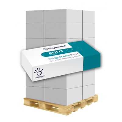 Kosmetiktücherbox 2-lagig, 100 Blatt / Box, Auflösend Papernet 411173 40 Kosmetikboxen / VE  1 Palette / 36 VE