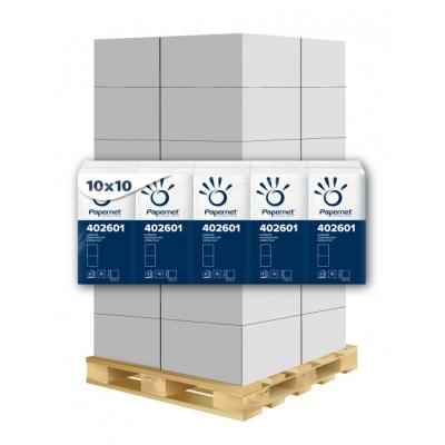 Taschentücher 4-lagig, 10 Pack a 10 Tücher, Zellstoff Papernet 402601 24 Pack / VE  1 Palette / 48 VE