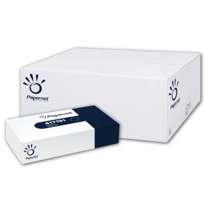 Kosmetiktücherboxen 2-lagig, 80 Blatt / Box, Zellstoff Papernet 417191  40 Kosmetikboxen / VE