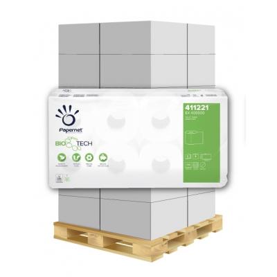 Camping Toilettenpapier BIO TECH 3-lagig, 250 Blatt, Zellstoff Papernet 411221 8 Rollen / VE  1 Palette / 162 VE