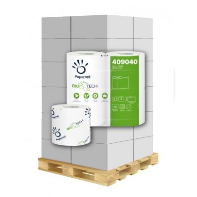 Camping Toilettenpapier BIO TECH 2-lagig, 250 Blatt, Zellstoff Papernet 409040 4 Rollen / VE  1 Palette / 2.304 VE