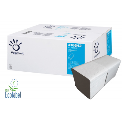 Papierhandtücher SPECIAL V-Falz, 2-lagig, weiß 65 % Maß: 24 x 23 cm (gefalten 11,5 cm)  3.990 Stück / Karton