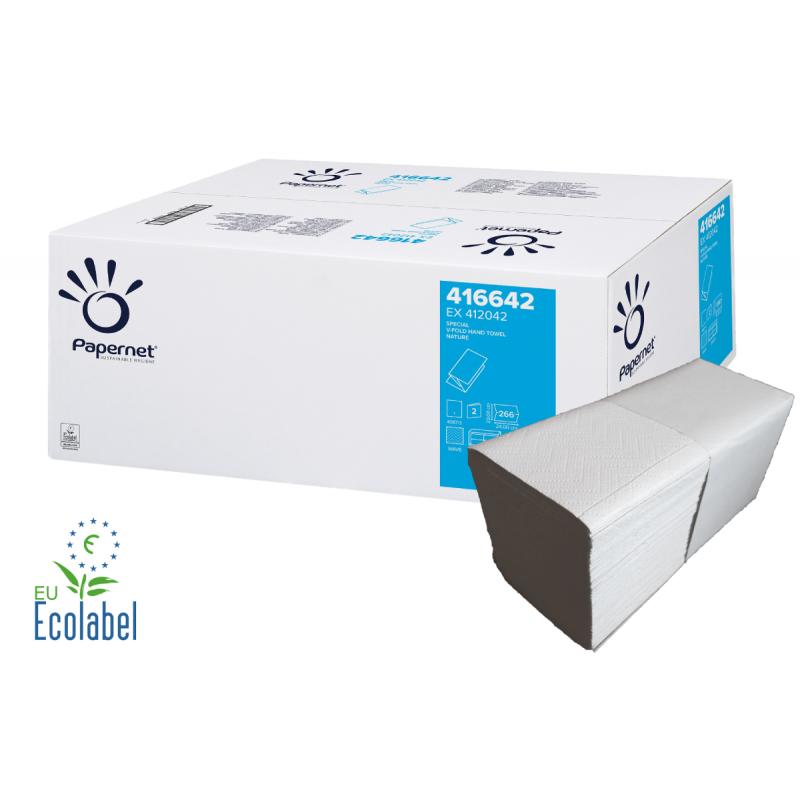 Falthandtücher weiß 2-lagig 25 x 22 cm je 4050 Blatt Papierhandtücher Papiertuch