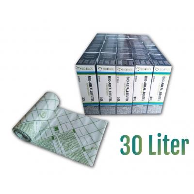 Bio4Pack Bio-Abfallbeutel 30 Liter, 100% kompostierbar Maße: 50 x 57 cm  40 Rollen / Karton