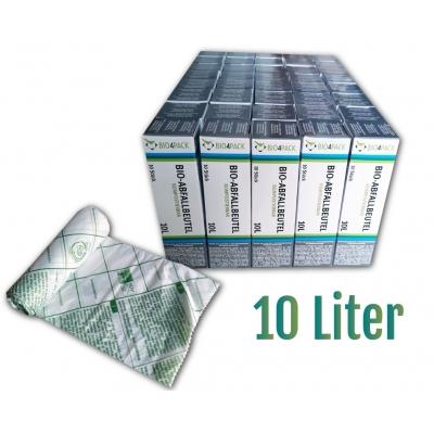 Bio4Pack Bio-Abfallbeutel 10 Liter, 100% kompostierbar Maße: 43 x 44 cm  40 Rollen / Karton