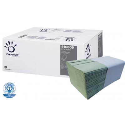 Papierhandtücher GRÜN Recycling V-Falz, 1-lagig Maß: 25 x 23 cm (gefalten 11,5 cm)  5.000 Stück / Karton
