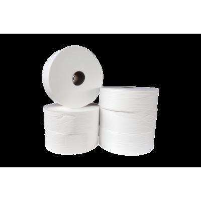 Maxi Jumbo Toilettenpapier Zellstoff 2-lagig, 250m/Rolle 10052  6 Rollen / VE