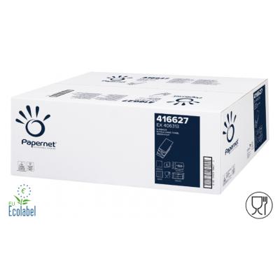 Papierhandtücher Zellstoff W-Falz, 2-lagig, lebensmittelecht Maß: 22 x 32 cm (gefalten 8 cm)  3.000 Stück / Karton
