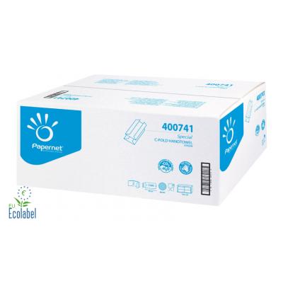 Papierhandtücher Zellstoff C-Falz (Lagenfalz), 2-lagig Maß: 24 x 32 cm (gefalten 9,2 cm)  2.880 Stück / Karton