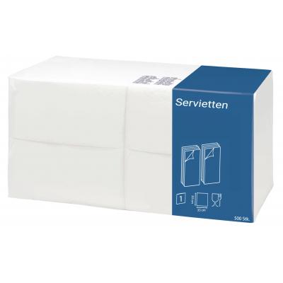 Imbiss Servietten Zellstoff 1/8-Falz, 1-lagig 9 x 500er Pack  4500 Stück / Karton