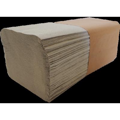 10.000 Stück Papierhandtücher Krepp natur 1-lagig 25 x 23 cm