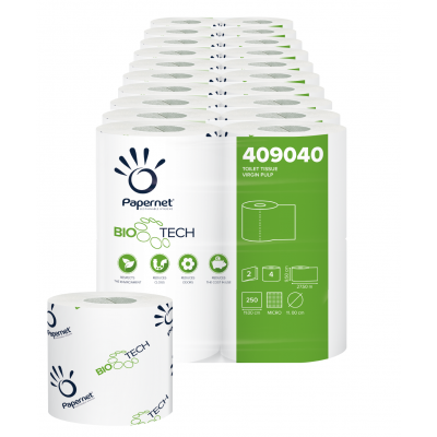 Camping Toilettenpapier BIO TECH 2-lagig / 250 Blatt / selbstauflösend Papernet 409040  40 Rollen / 10 VE