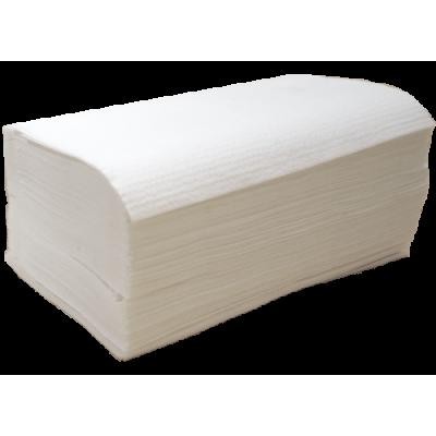 3.200 Stück Papierhandtücher Zellstoff hochweiß 2-lagig 25 x 23 cm