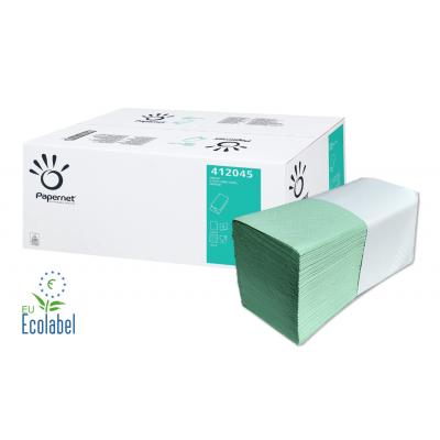 Papierhandtücher MINTGRÜN V-Falz, 2-lagig Maß: 24 x 23 cm (gefalten 11,5 cm)  3.990 Stück / Karton
