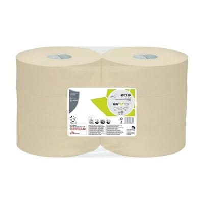 Jumbo Toilettenpapier Recycling Krepp Kraft Tech, 1-lagig, 470m / Rolle Papernet 406350  6 Rollen / VE