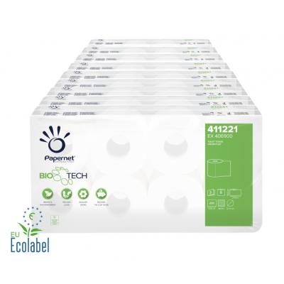 Camping Toilettenpapier BIO TECH 3-lagig / 250 Blatt / selbstauflösend Papernet 411221  72 Rollen / VE