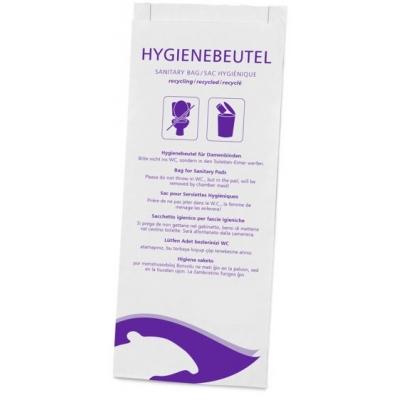 Hygienetüten für Damenbinden Papier, mehrsprachig bedruckt Hygienebags  1000 Stück / Karton