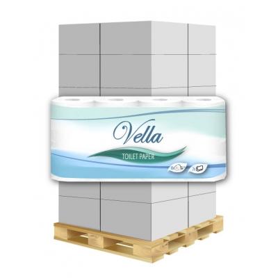 Toilettenpapier Vella 2-lagig, 250 Blatt, Zellstoff 8 Rollen / VE  1 Palette / 240 VE