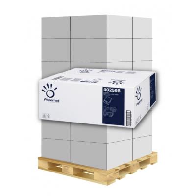 Toilettenpapier Einzelblatt Zellstoff, 2-lagig, 11x21cm Papernet 402598 8.960 Blatt / VE  1 Palette / 40 VE