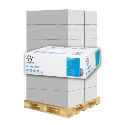 Papierhandtücher Papernet 407551 Z-Falz, 2-lagig, DRY TECH Maß: 20,3 x 24 (gef. 8 cm)  1 Palette / 40 Kartons
