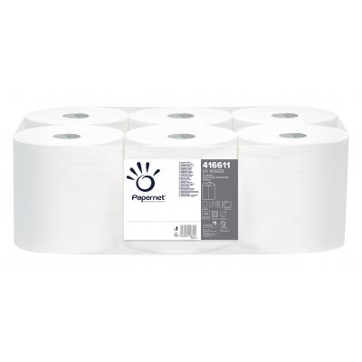 Handtuchrollen Außen-/Innenabwicklung Recycling, 1-lagig, 275 m / Rolle Papernet 416611  6 Rollen / VE