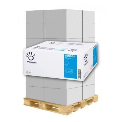 Papierhandtücher Papernet 409051 V-Falz, 2-lagig, Zellstoff Maß: 24 x 21 cm (gef. 10,5 cm)  1 Palette / 36 Kartons