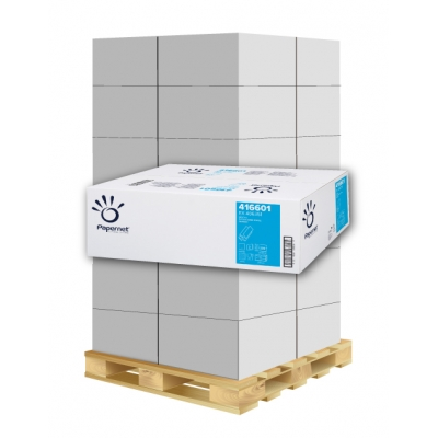 Papierhandtücher Papernet 416601 Z-Falz, 2-lagig, Deinkt Maß: 20,3 x 24 cm (gef. 8 cm)  1 Palette / 40 Kartons