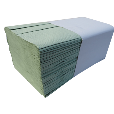 3.750 Stück Papierhandtücher Krepp grün 1-lagig 25 x 23 cm